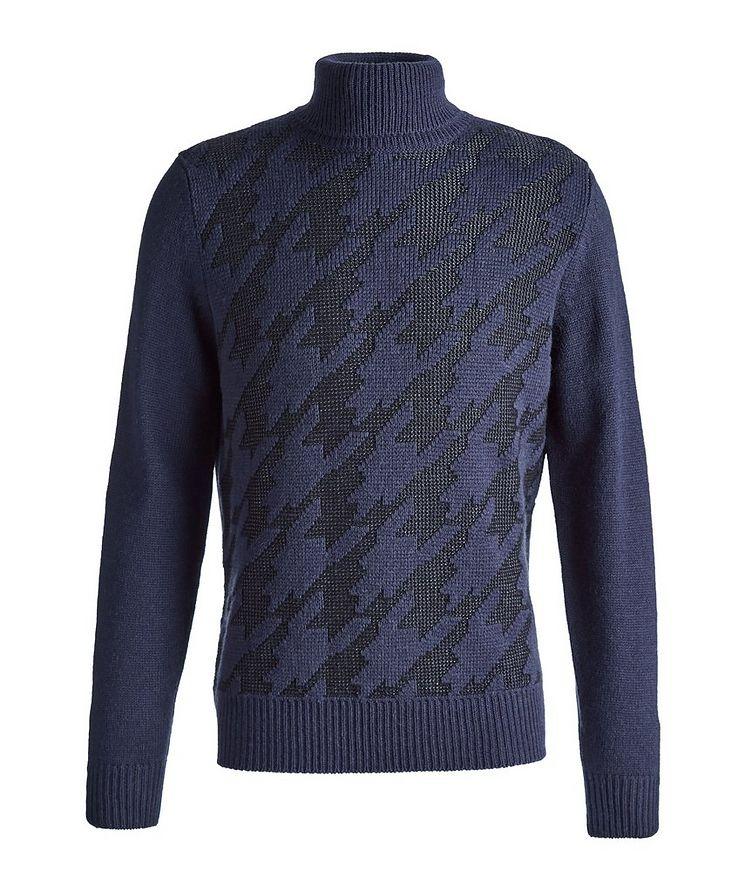 Houndstooth Wool-Blend Turtleneck image 0