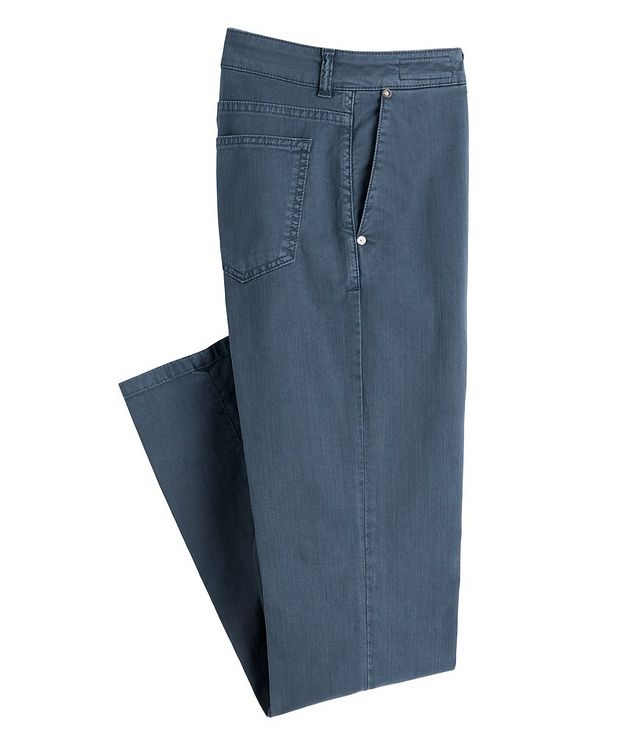 Five-Pocket Stretch Jeans picture 1