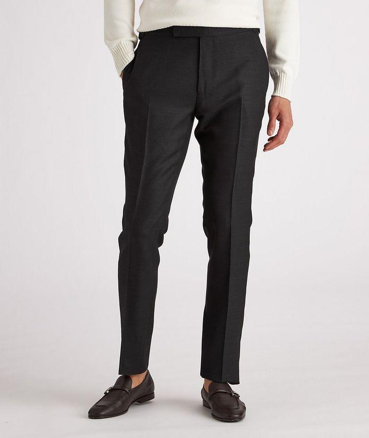 Shelton Slim-Fit Silk Dress Pants image 1