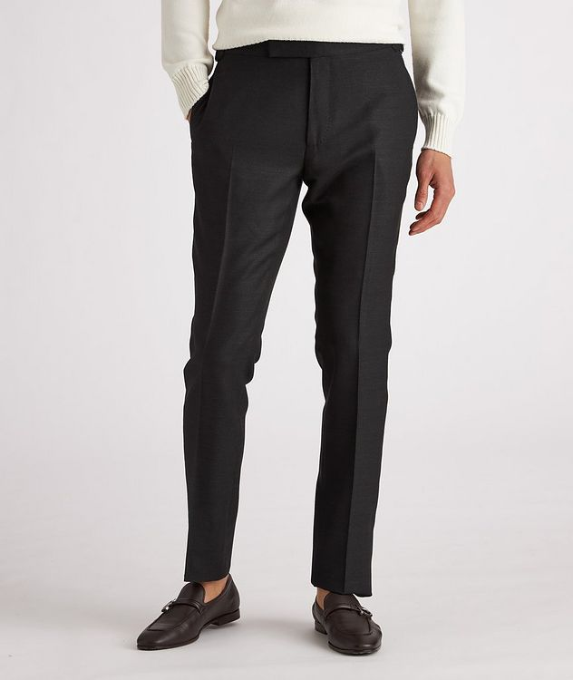 Shelton Slim-Fit Silk Dress Pants picture 2