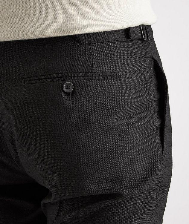 Shelton Slim-Fit Silk Dress Pants picture 4