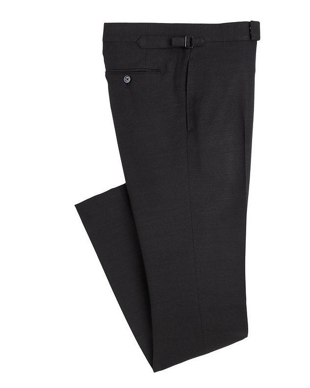 Shelton Slim-Fit Silk Dress Pants picture 1