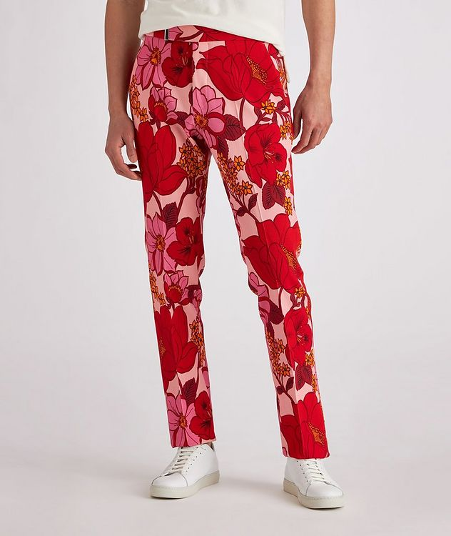 Atticus Floral Stretch Dress Pants picture 2