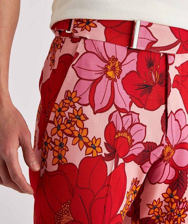 Atticus Floral Stretch Dress Pants picture 4