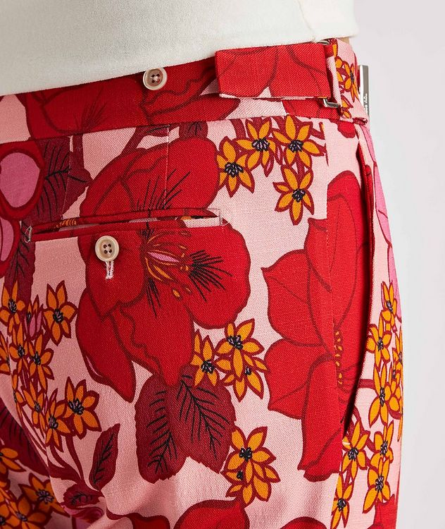Atticus Floral Stretch Dress Pants picture 5