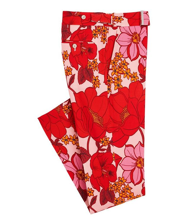 Atticus Floral Stretch Dress Pants picture 1