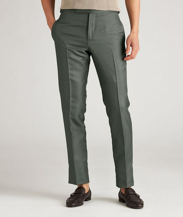 O'Connor Slim-Fit Silk-Blend Dress Pants picture 2