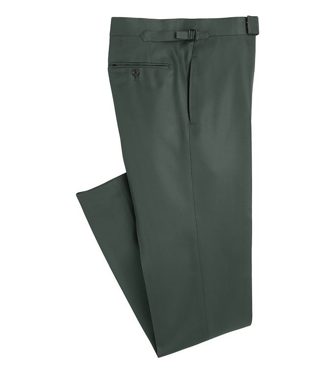 O'Connor Slim-Fit Silk-Blend Dress Pants picture 1