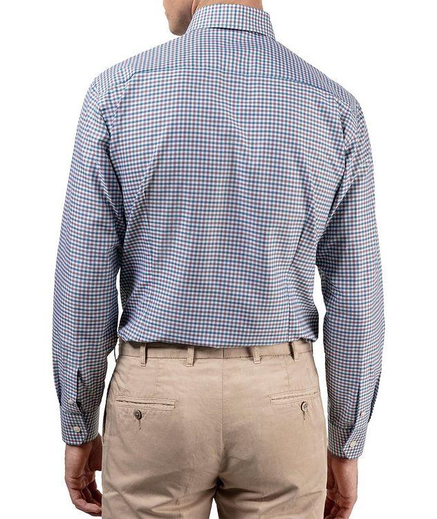Slim Fit Micro-Check Cotton-Linen Shirt picture 5
