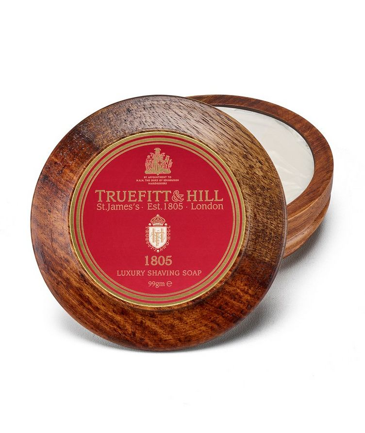 1805 Lux Shaving Soap in Wooden Bowl image 0