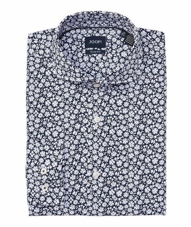 Slim-Fit Floral-Printed Cotton Shirt image 0
