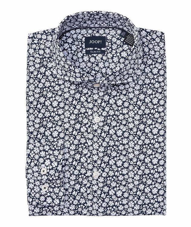 Slim-Fit Floral-Printed Cotton Shirt picture 1