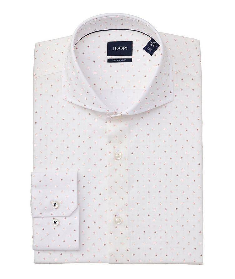 Slim-Fit Geometric-Printed Cotton Shirt image 0