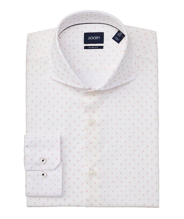Slim-Fit Geometric-Printed Cotton Shirt picture 1
