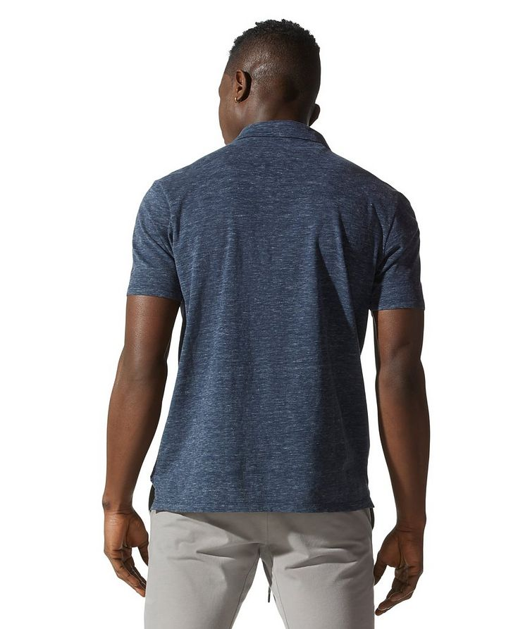 Premium Heather Open-collar Polo image 3