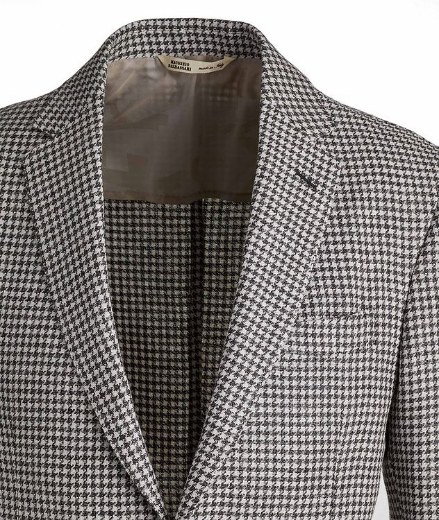 Brera Houndstooth Wool-Flax Sports Jacket picture 3