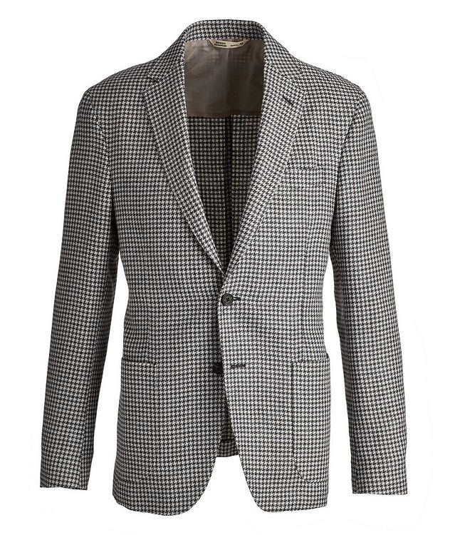 Brera Houndstooth Wool-Flax Sports Jacket picture 1