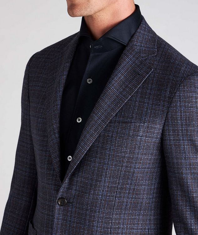 Kei Plaid Wool Sports Jacket picture 4