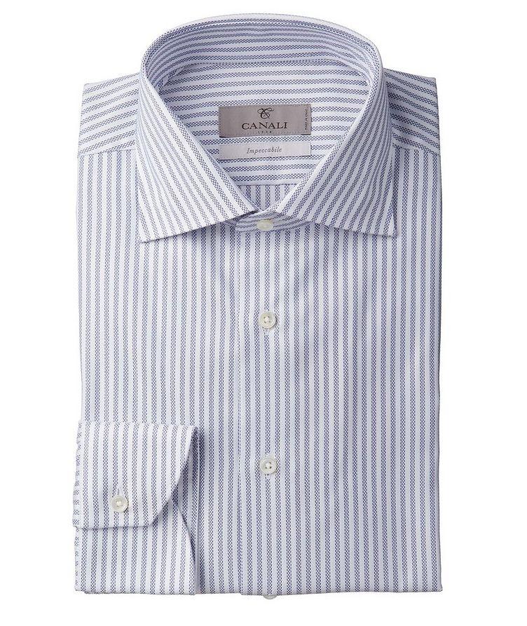 Contemporary Fit Impeccabile Striped Dress Shirt image 0