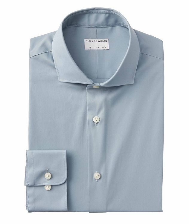 Farrell 5 Slim-Fit Stretch-Cotton Dress Shirt picture 1