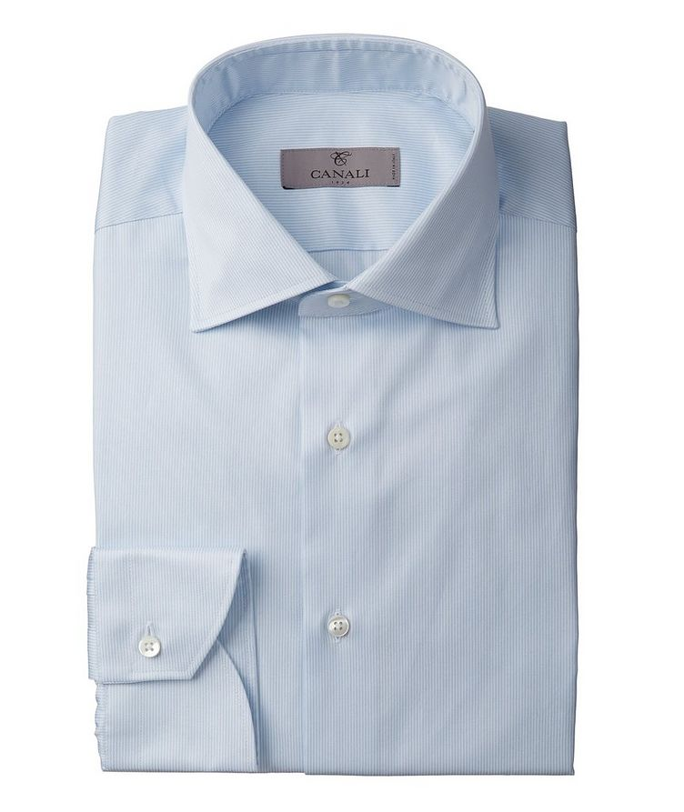 Contemporary Fit Pinstriped Dress Shirt image 0