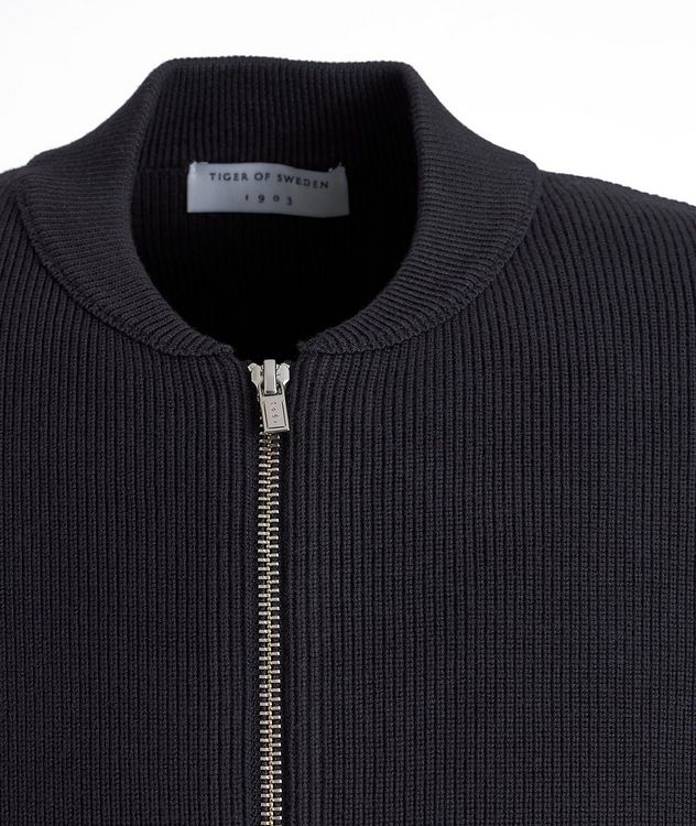 Lunar Organic Cotton Zip-Up Cardigan picture 3