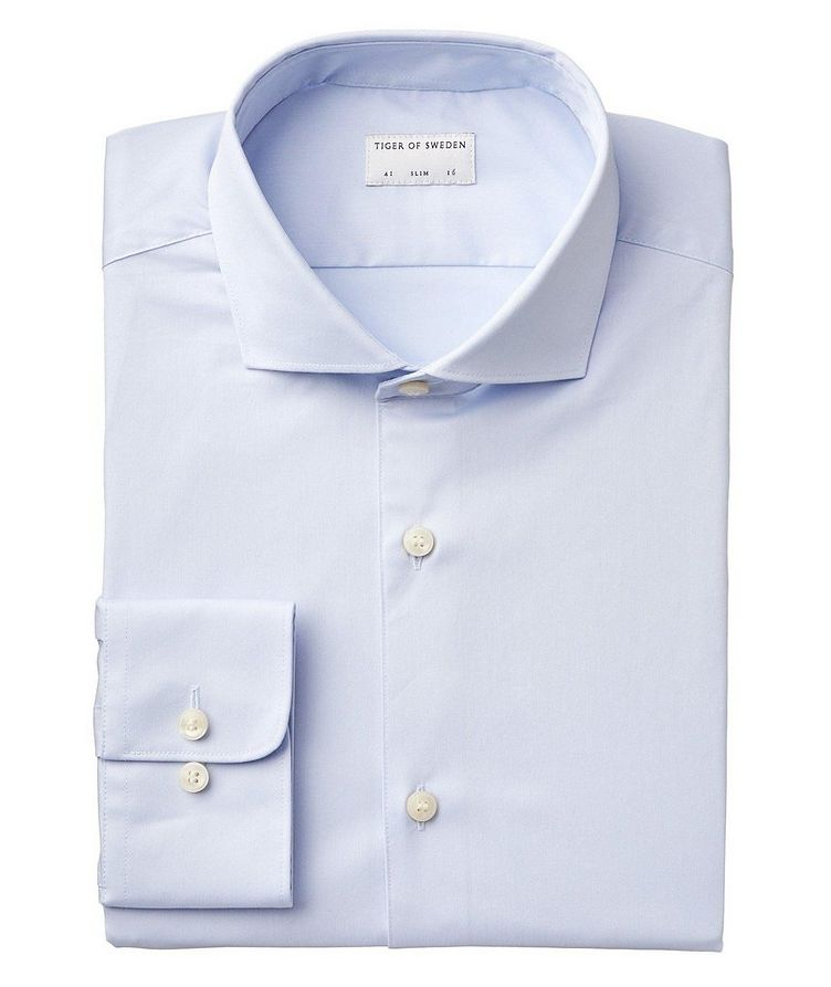 Farrell Slim Fit Stretch-Cotton Dress Shirt image 0