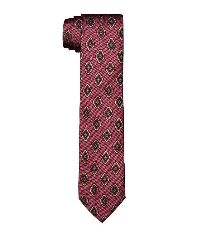 Geometric Printed Silk Tie picture 1