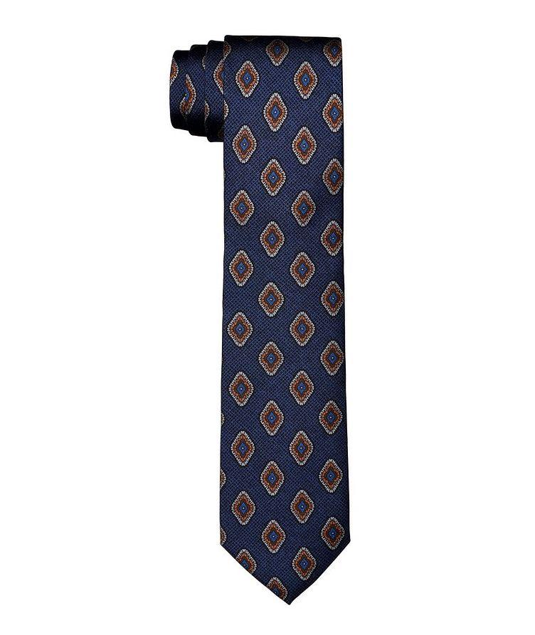 Geometric Printed Silk Tie image 0