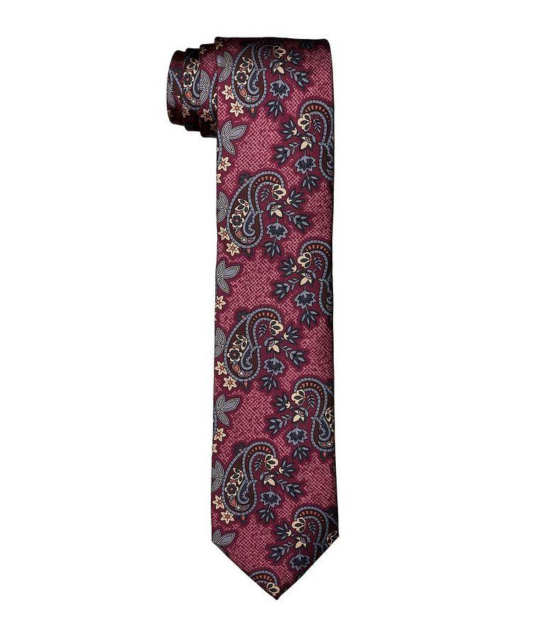 Paisley Printed Silk Tie image 0