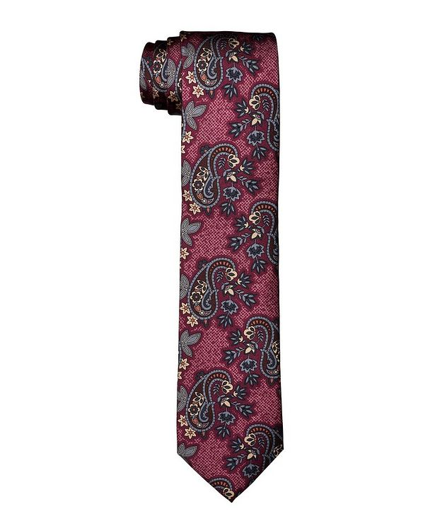 Paisley Printed Silk Tie picture 1