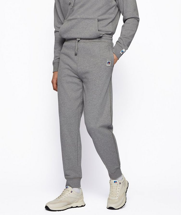 BOSS x Russell Athletic Organic Cotton Terry Joggers image 1