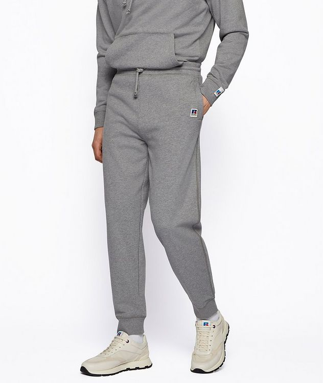 BOSS x Russell Athletic Organic Cotton Terry Joggers picture 2