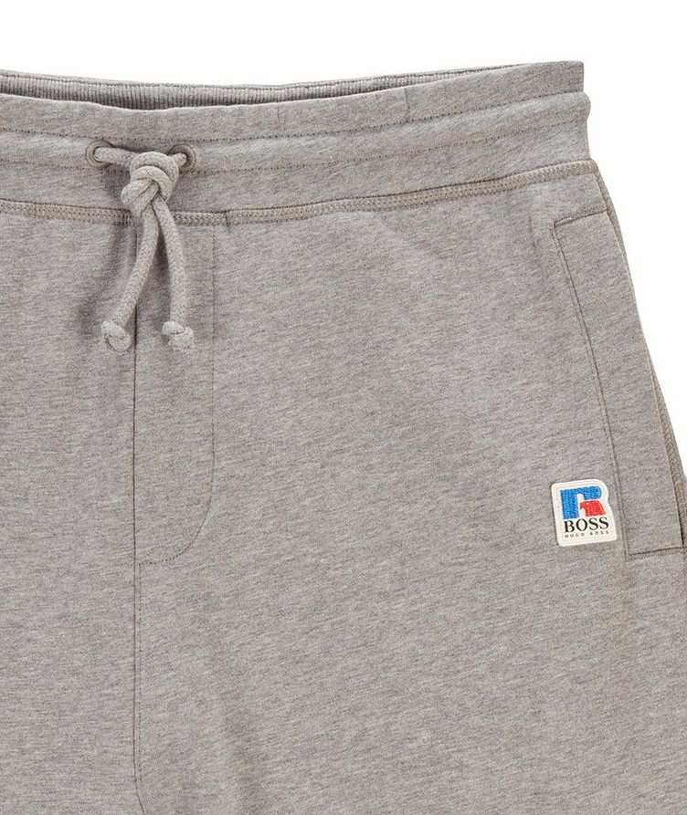 BOSS x Russell Athletic Organic Cotton Terry Joggers image 3