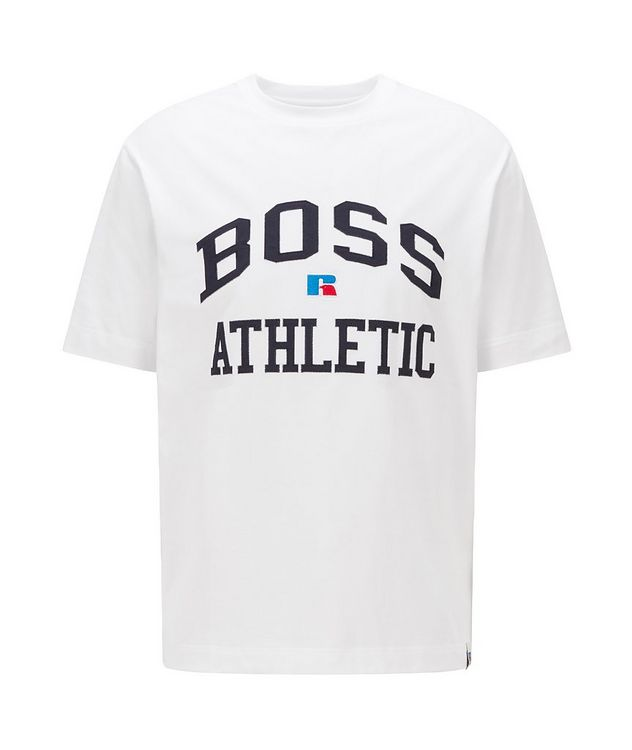 BOSS x Russell Athletic Stretch Cotton T-shirt  picture 1