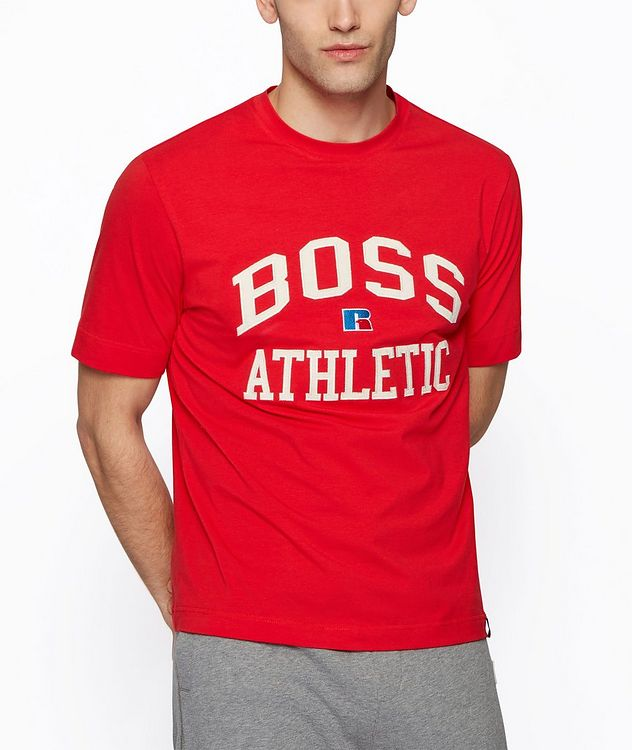 BOSS x Russell Athletic Stretch Cotton T-shirt  picture 2