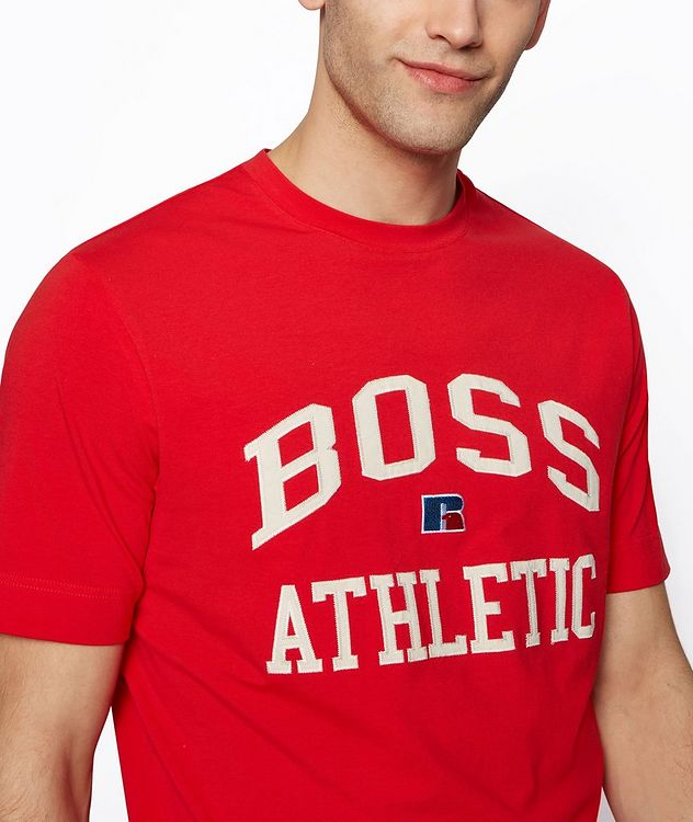 BOSS x Russell Athletic Stretch Cotton T-shirt  picture 4