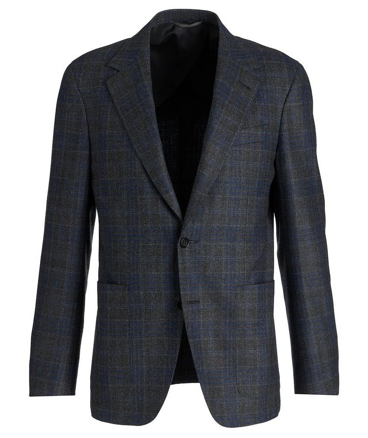 Slim Fit Checked Wool Sports Jacket image 0