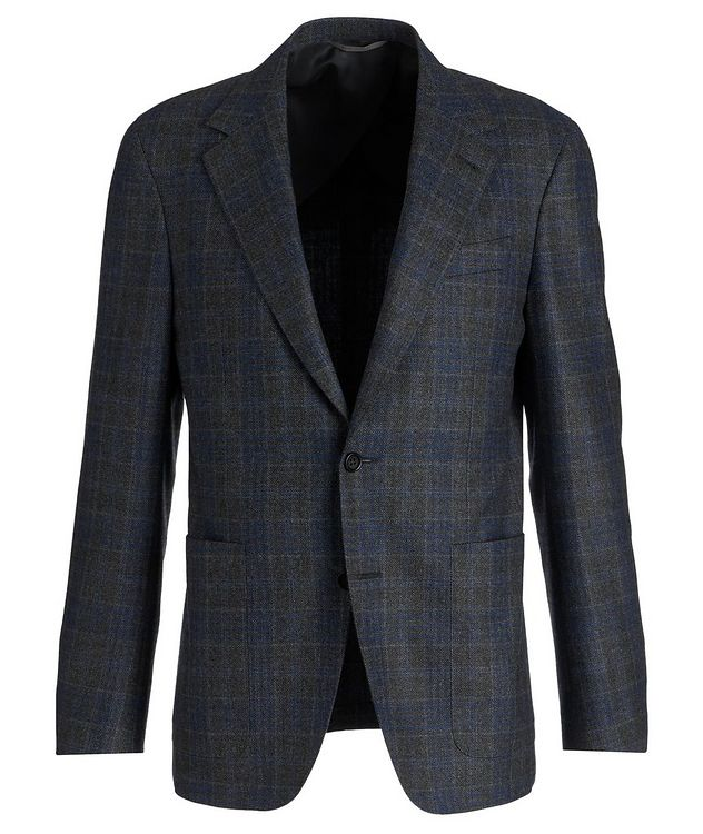 Slim Fit Checked Wool Sports Jacket picture 1