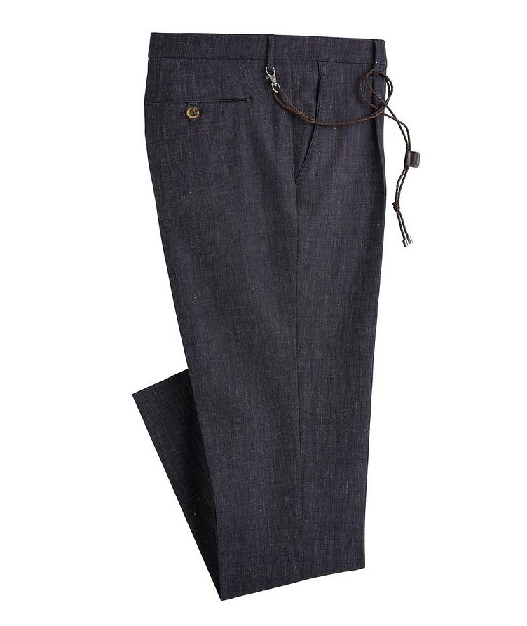 Morello Slim-Fit Stretch Wool-Linen-Cotton Pants image 0
