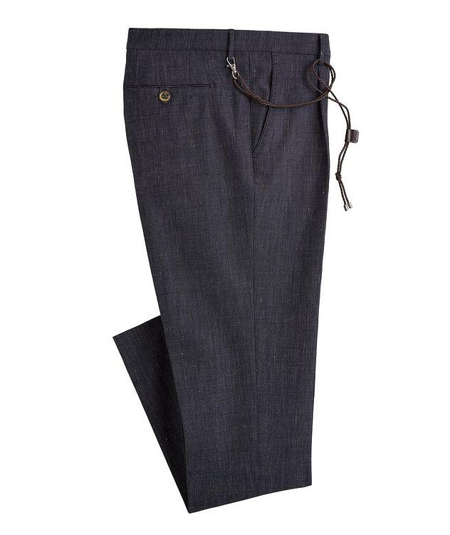 Morello Slim-Fit Stretch Wool-Linen-Cotton Pants picture 1