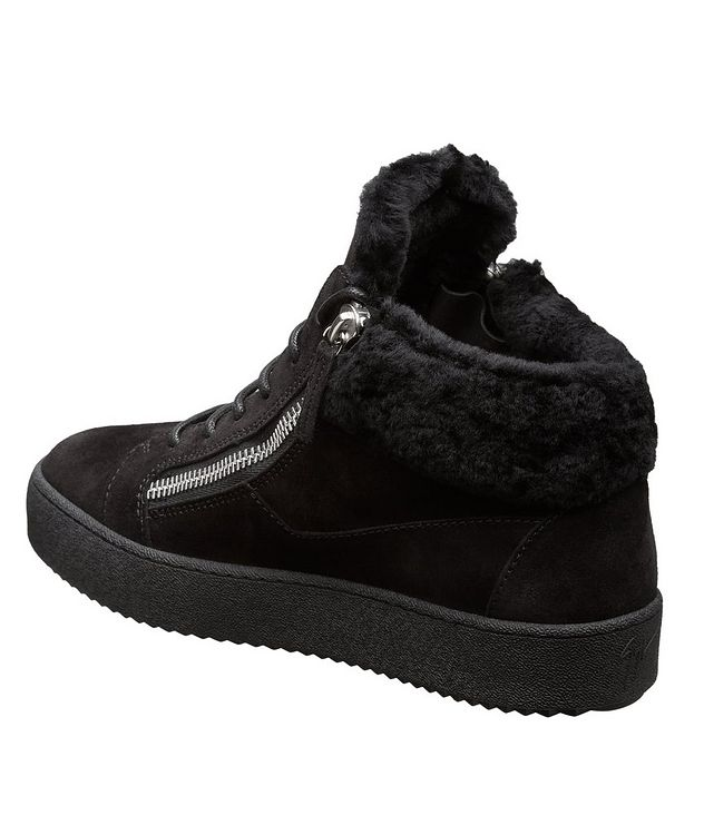 May London Shearling-Lined High-Top Sneakers picture 2