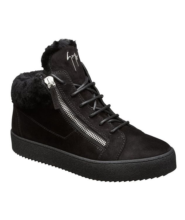 May London Shearling-Lined High-Top Sneakers picture 1