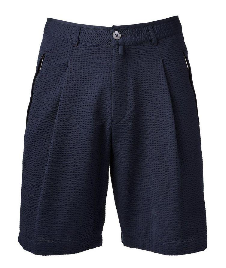 Cotton-Blend Bermuda Shorts image 0