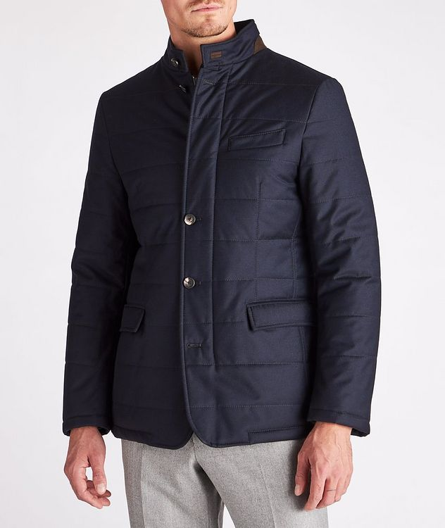 Clima System Quilted Wool-Silk Coat picture 2