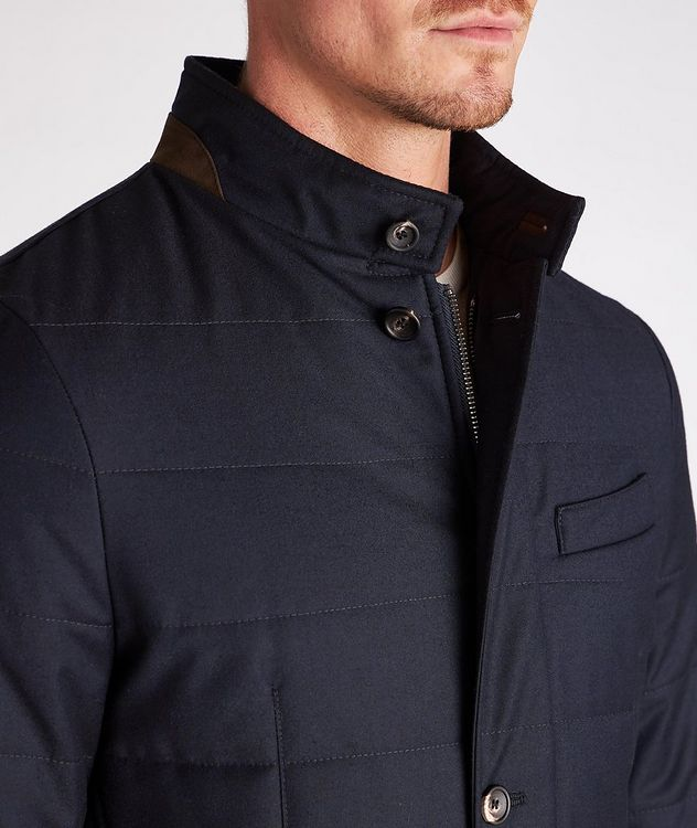 Clima System Quilted Wool-Silk Coat picture 4