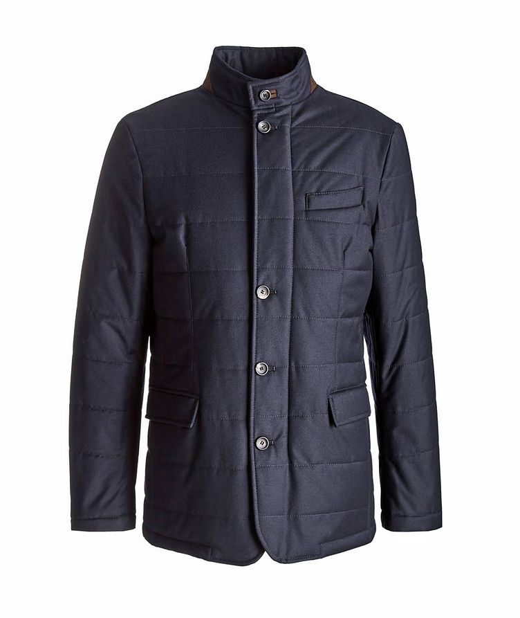 Clima System Quilted Wool-Silk Coat image 0