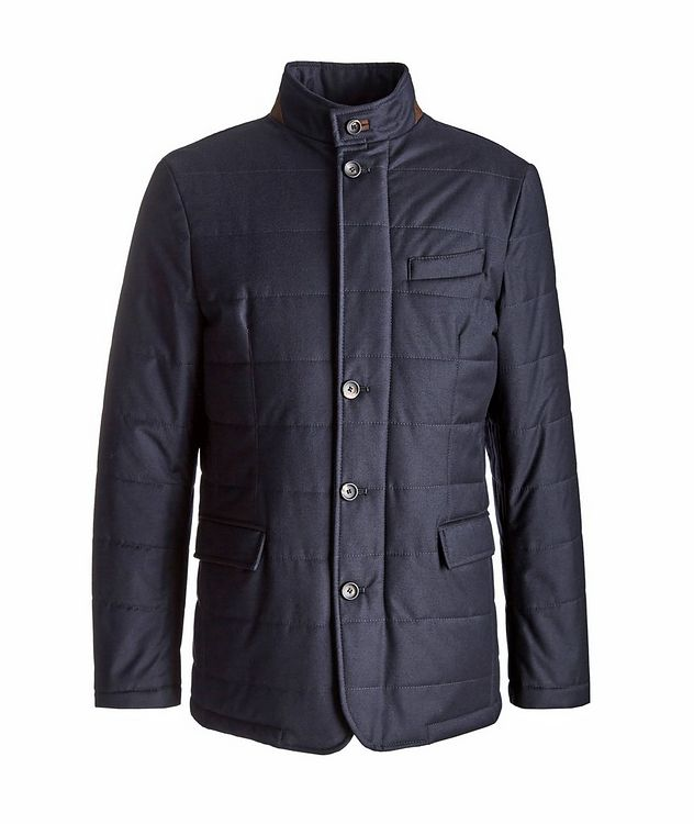 Clima System Quilted Wool-Silk Coat picture 1