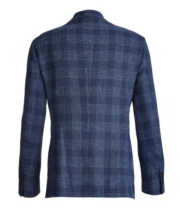 Plaid Wool-Cotton-Silk-Linen Sport Jacket picture 2