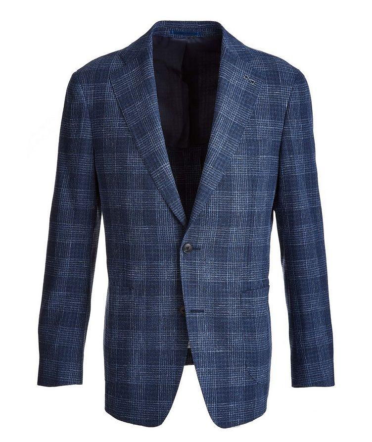 Plaid Wool-Cotton-Silk-Linen Sport Jacket image 0